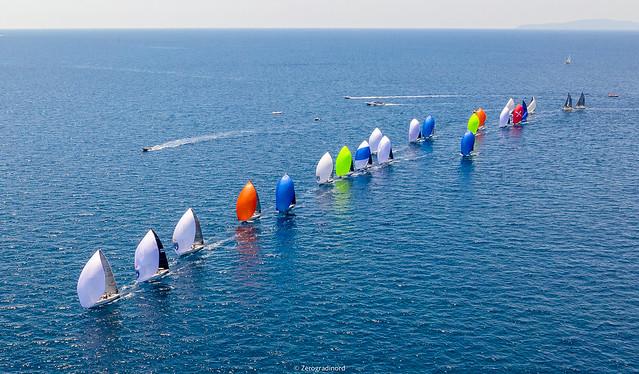 Melges 24 fleet in Scarlino - photo © Zerogradinord