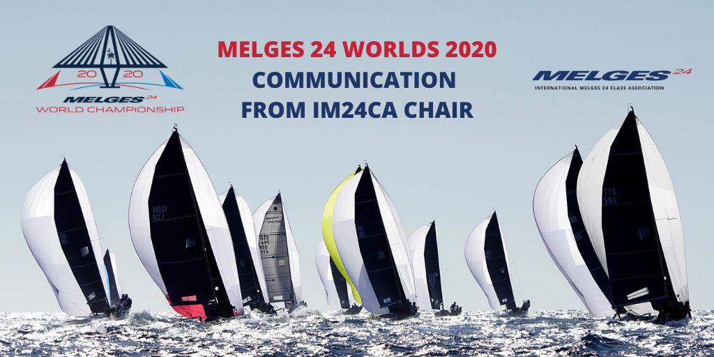 2020 Melges 24 Worlds - Communication from IM24CA Chair