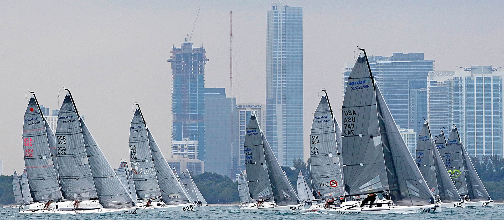 2016 Melges 24 Worlds in Miami - photo © Pierrick Contin