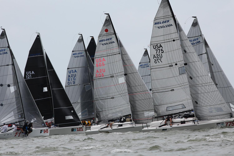 Melges 24 fleet at the 2019 Sperry Charleston Race Week - photo USM24CA