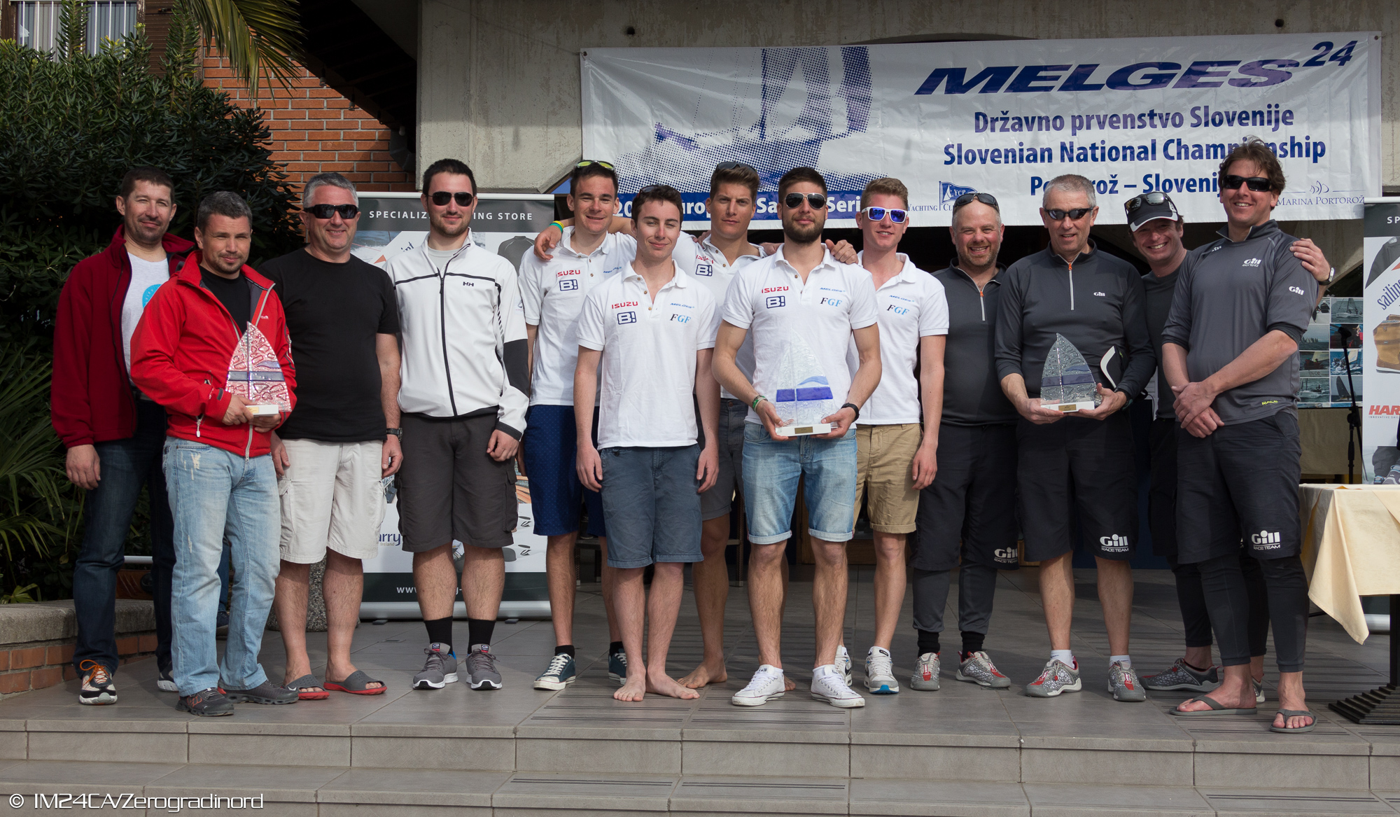 Top 3 Pro Am teams at the Portoroz Melges 24 Regatta
