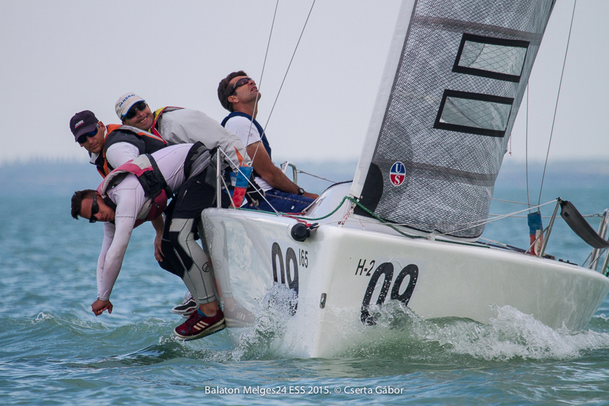 Balaton Melges 24 Spring Regatta - Ian Ainslie and Strange Brew - photo Gabor Cs