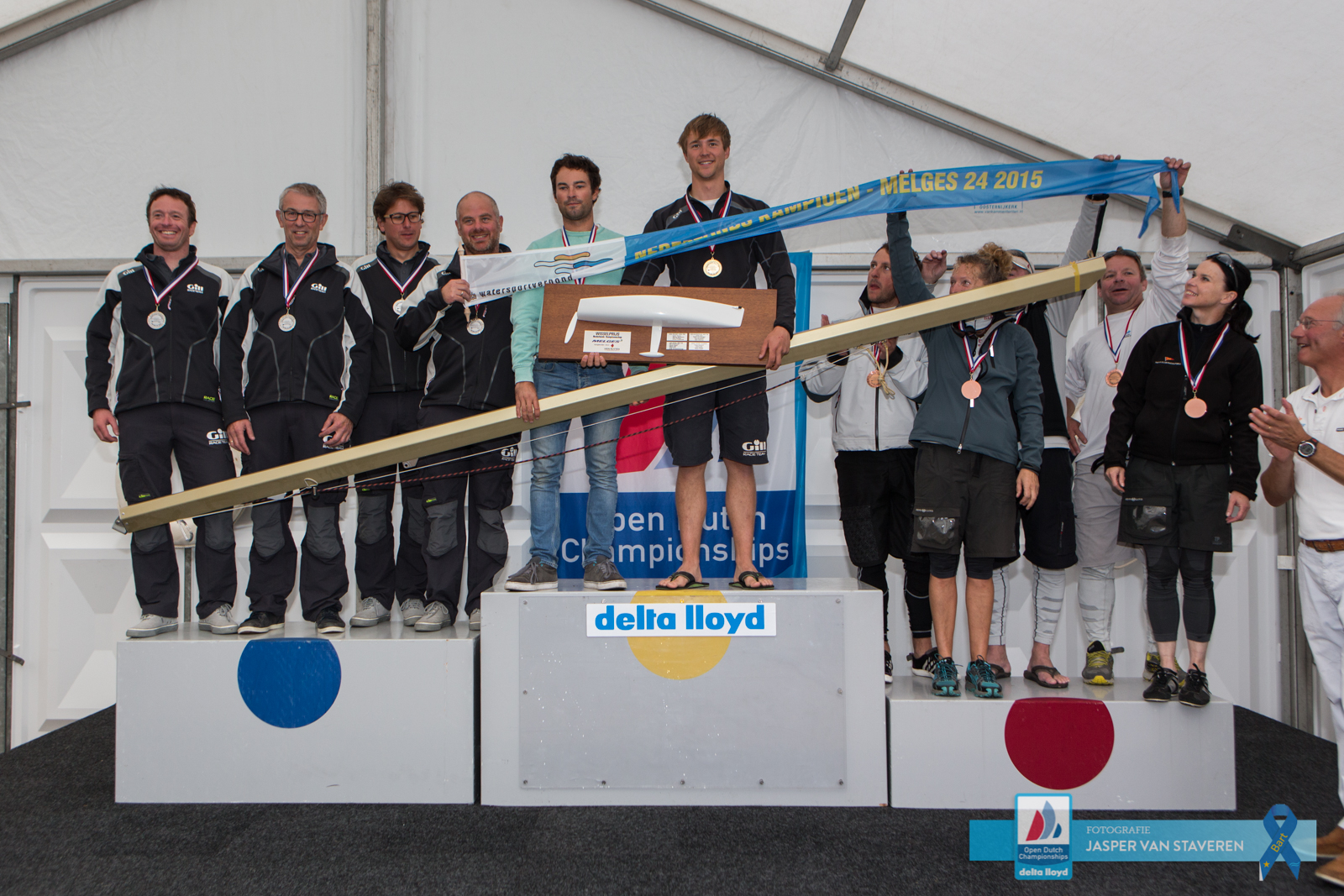 Melges 24 Top 3 teams of the Dutch Open Championships - photo Jasper van Stavere