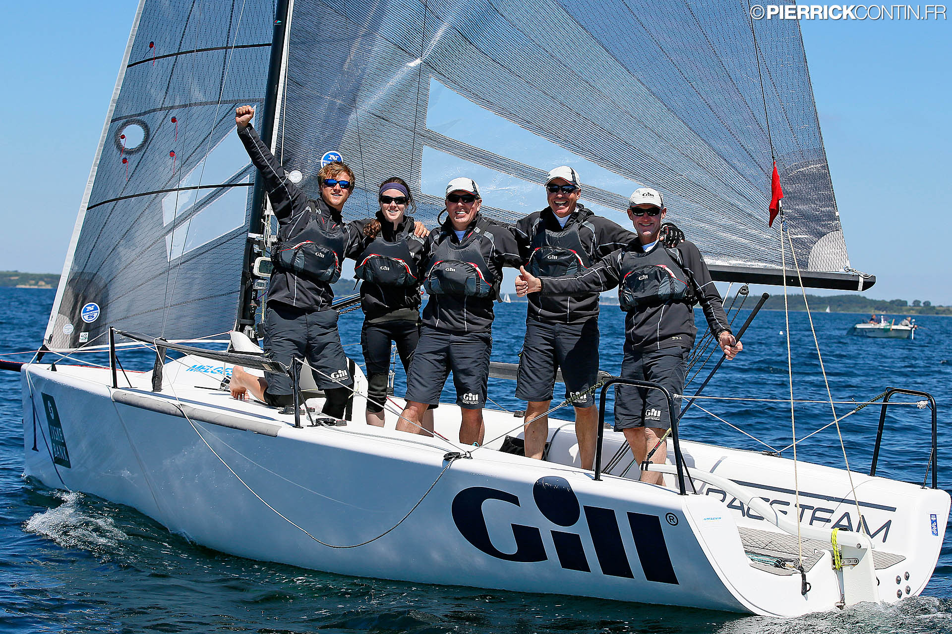 Miles Quinton's Gill Race Team GBR694 with Geoffry Carveth in helm - photo Pierr