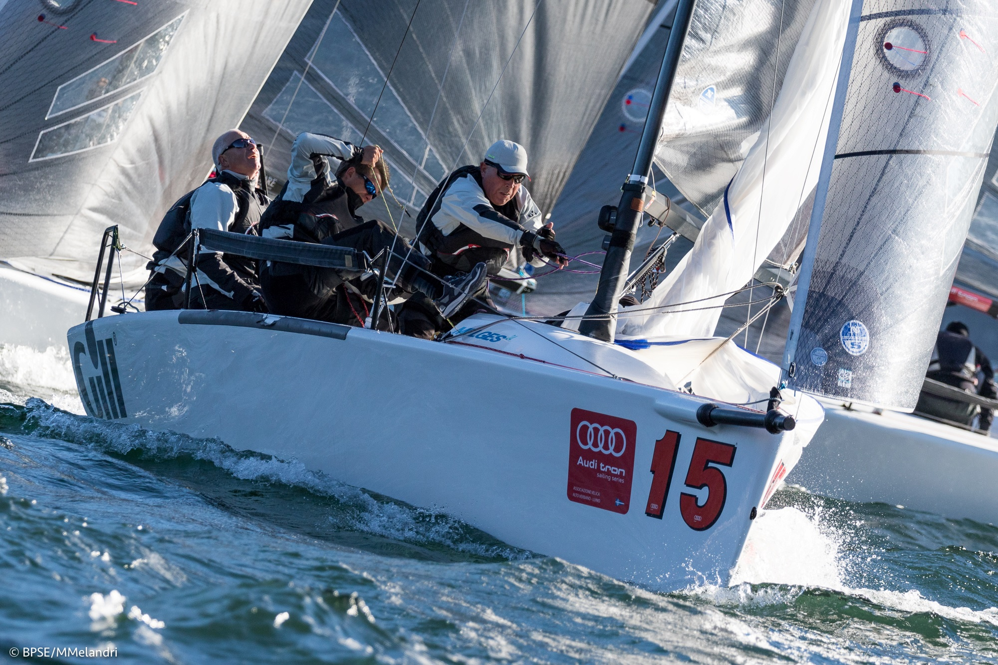 Miles Quinton's Gill Race Team GBR694 with Geoff Carveth helming - photo BPSE /