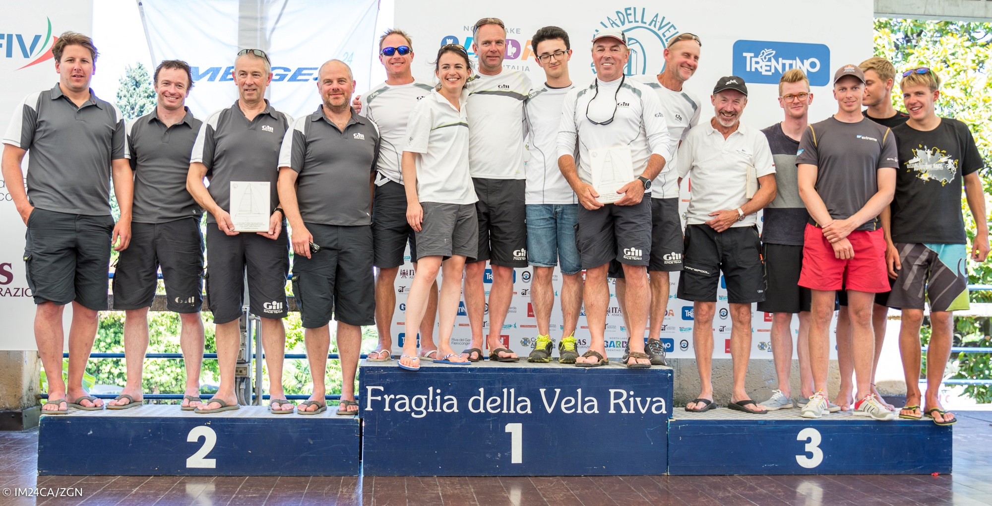 The winners of the Corinthian division at the Melges 24 European Sailing Series