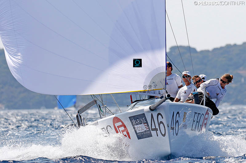 Reigning Melges 24 World Champion - Christopher Rast's EFG SUI684