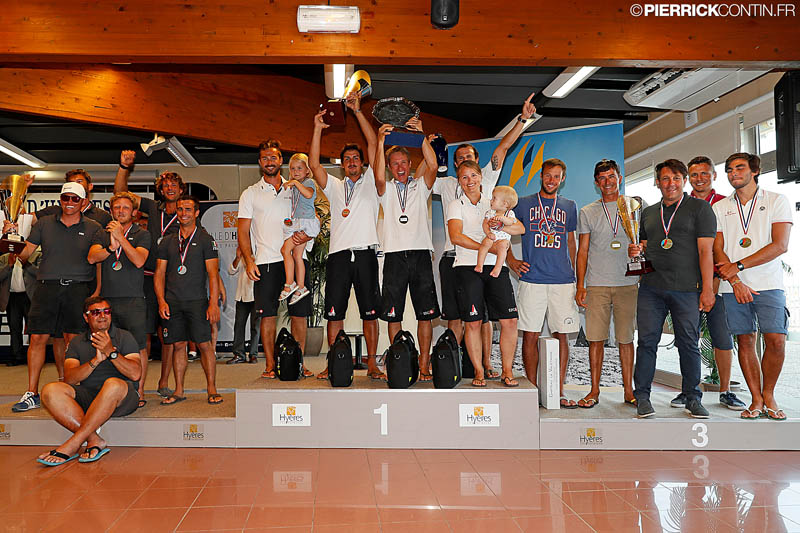 Melges 24 European Championship 2016 - Top 3 teams in overall ranking - photo Pi