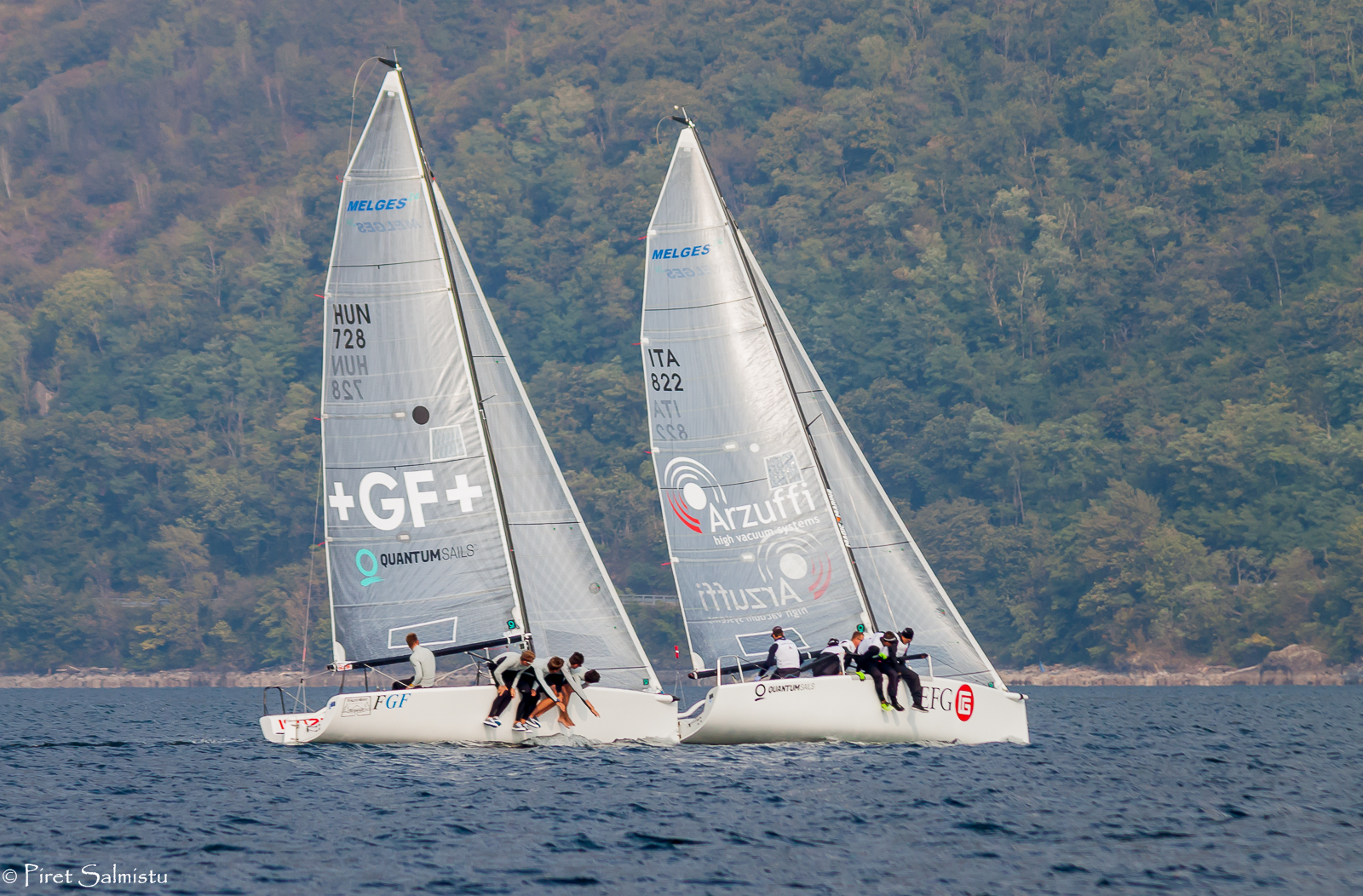 EFG with Carlo Fracassoli in helm and FGF Sailing Team with Robert Bakoczy