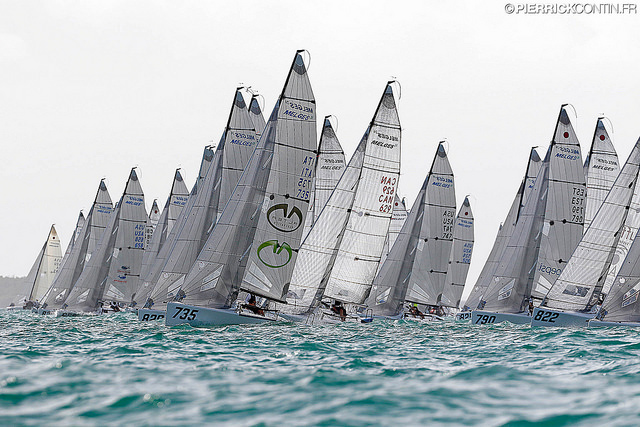 Melges 24 fleet in Miami Worlds 2016