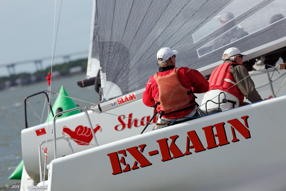 Brent McKenzie at the helm of Ex-Kahn (USA-575)