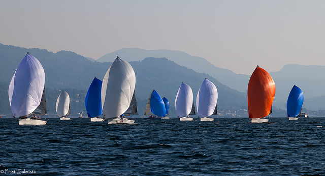 Melges 24 fleet in Luino, October 2016