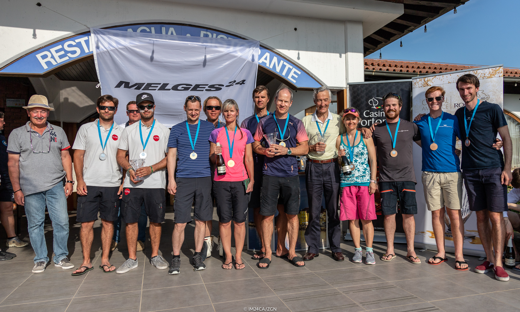 The Corinthian Top 3 of the Marina Portoroz 2018 regatta