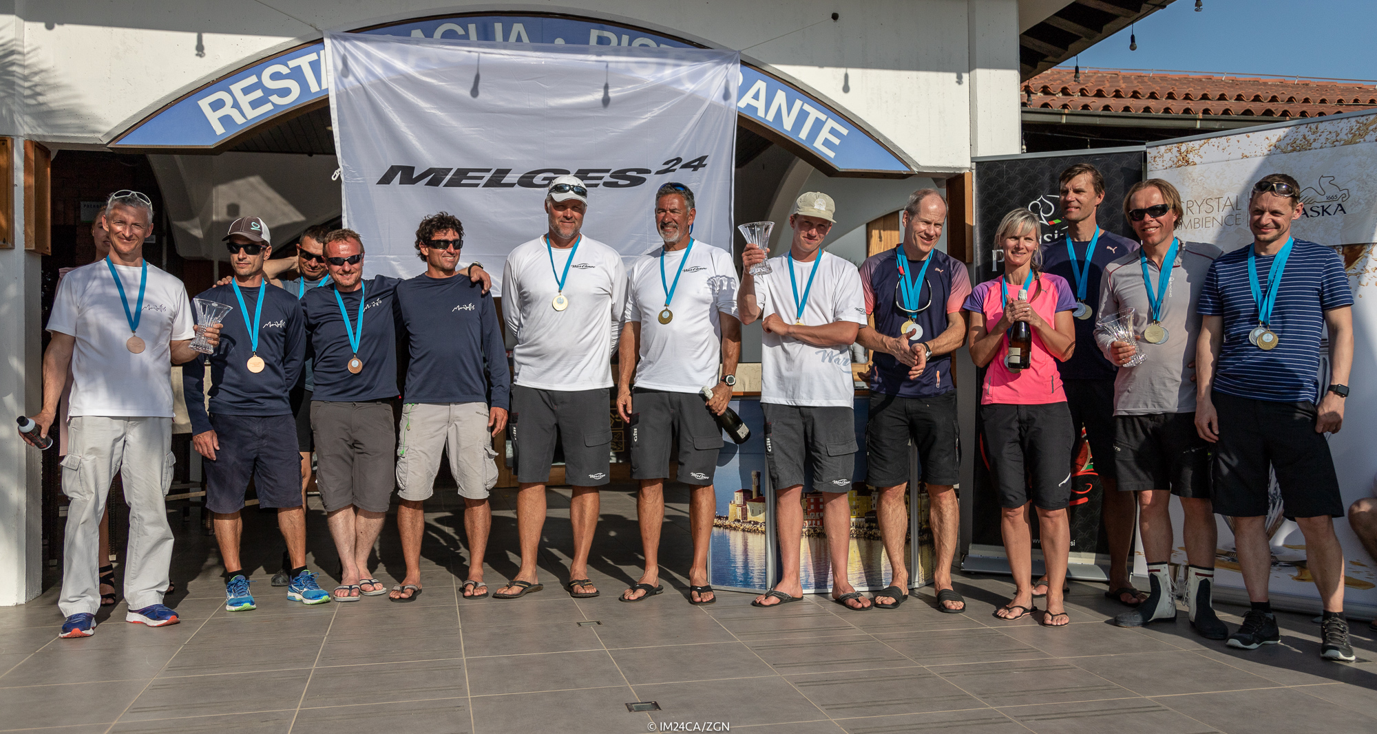The overall Top 3 of the Marina Portoroz 2018 regatta