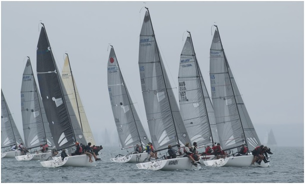 Melges 24 racing was tight all day Musto Melges 24 Australian Nationals
