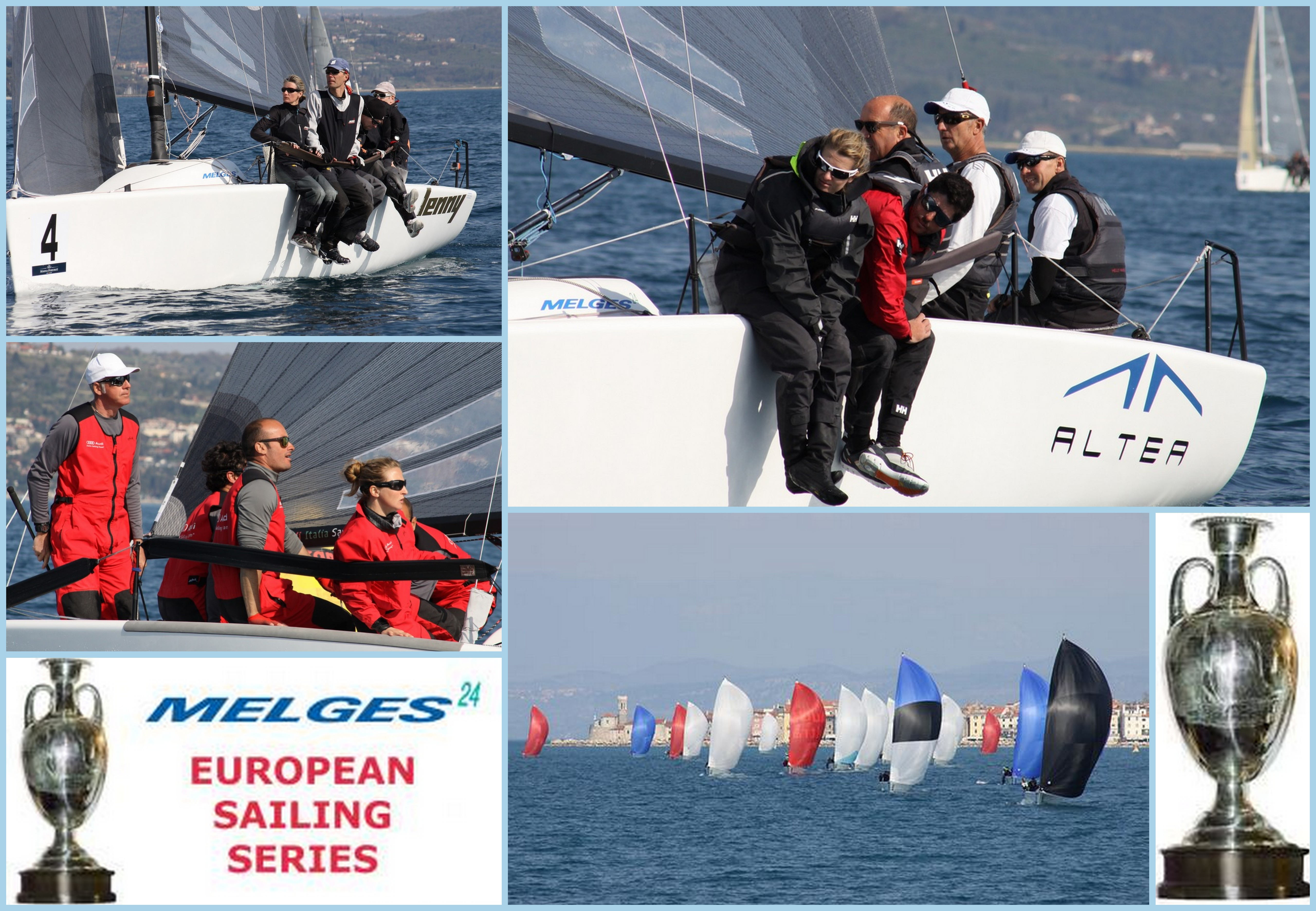 Winners of the Melges 24 European Sialing Series event in Portoroz