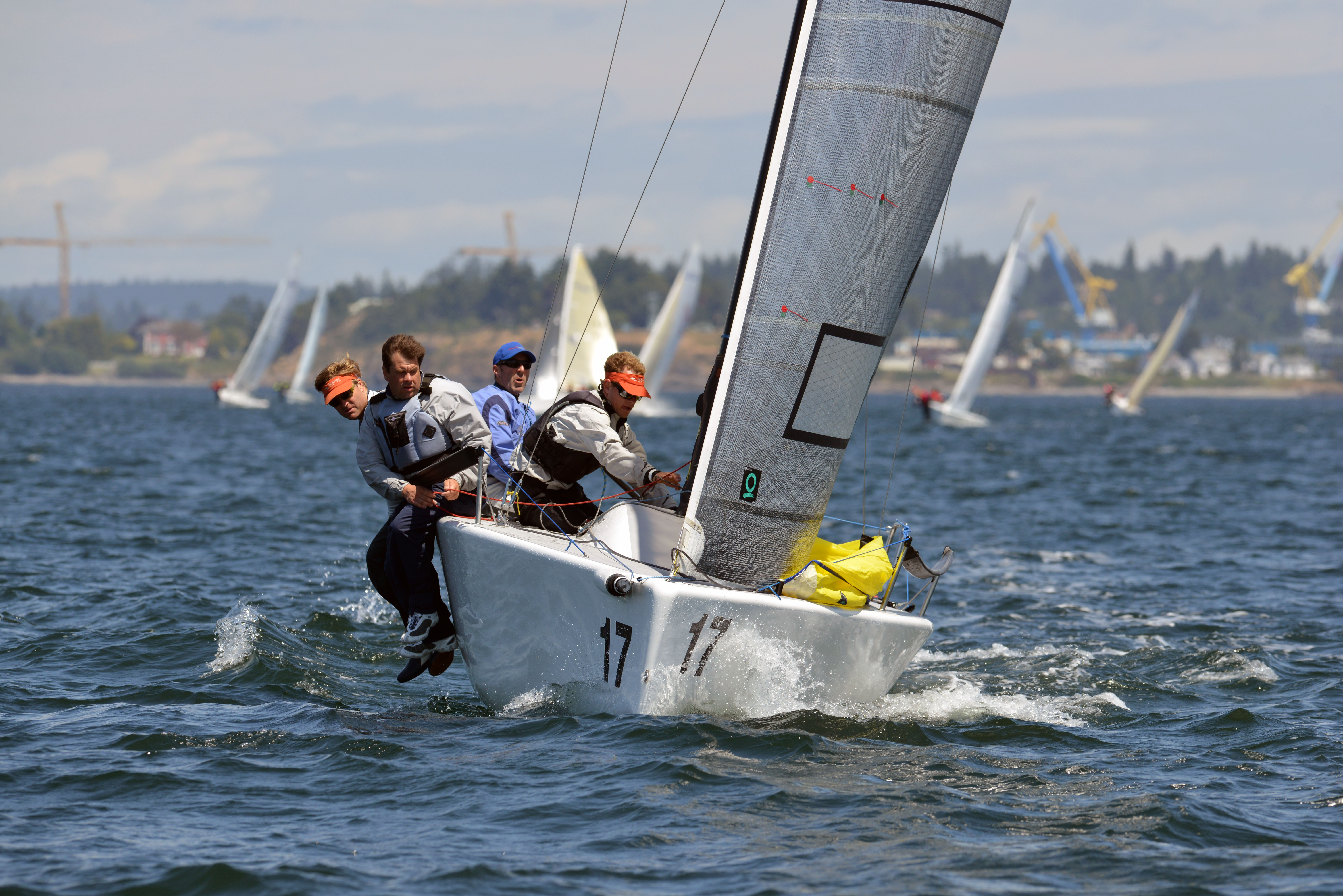 2nd_Midsummer_Beating- 2014 Melges 24  Canadian National Championship