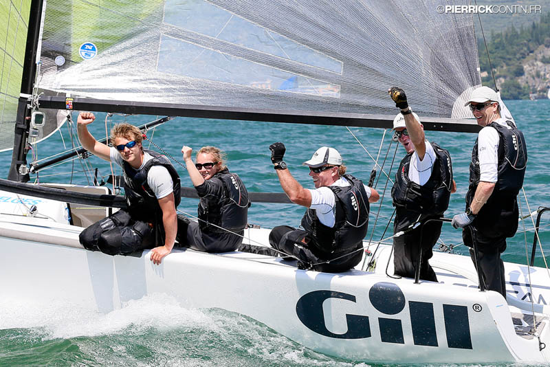 Gill Race Team GBR-694 with Geoff Carveth in helm  Photo by Pierrick Contin